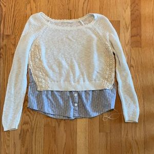 Two Styled Long Sleeve Sweater